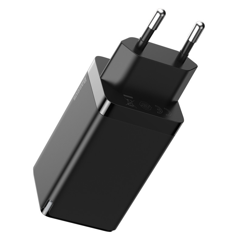 СЗУ Baseus GaN2 Quick Charger 65W (2 Type-C + 1 USB) - Купить в Украине за 1179 грн - изображение №6