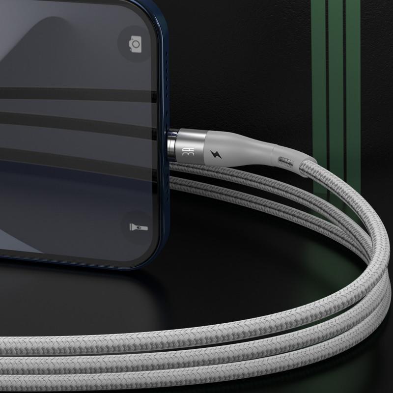 Кабель Baseus  Zinc Magnetic Safe Fast Charging Lightning 2.4A (1m) - Купить в Украине за 259 грн - изображение №4