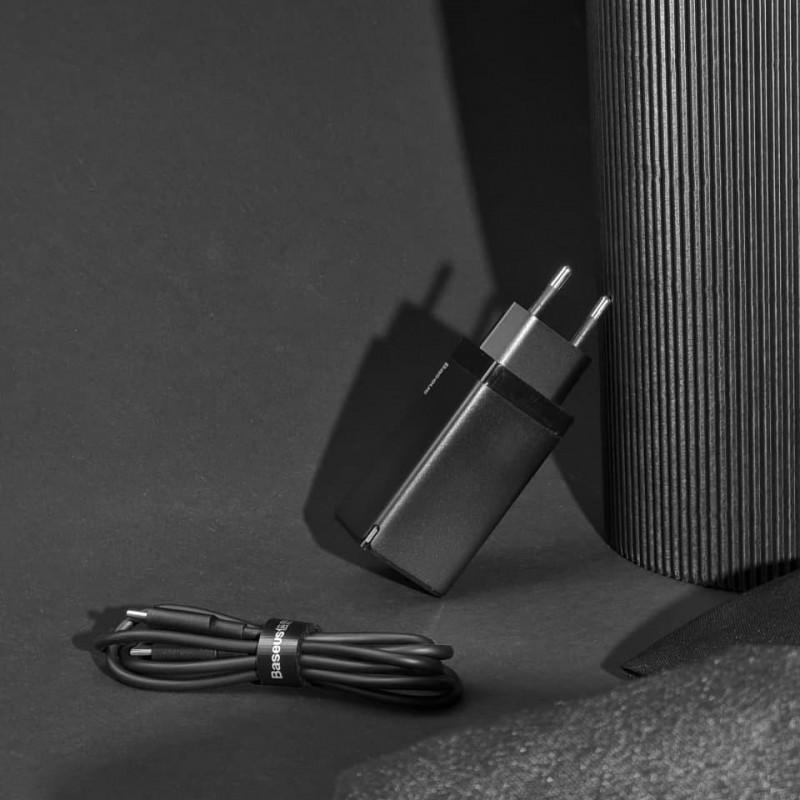 СЗУ Baseus GaN Quick Travel Charger 65W (2 Type-C + 1 USB) - Купить в Украине за 1179 грн - изображение №3