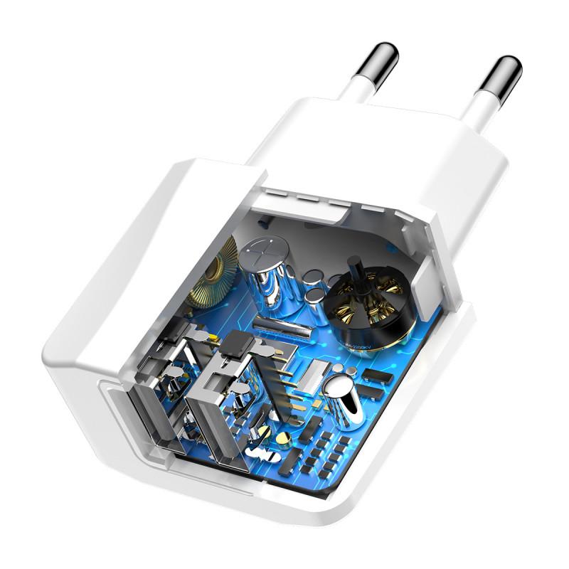 СЗУ Baseus Mini Dual U Charger 2.1A 2USB - Купить в Украине за 219 грн - изображение №4