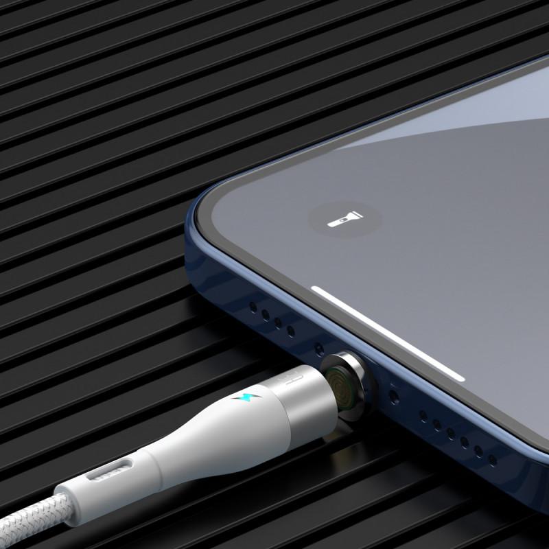 Кабель Baseus  Zinc Magnetic Safe Fast Charging Lightning 2.4A (1m) - Купить в Украине за 259 грн - изображение №3