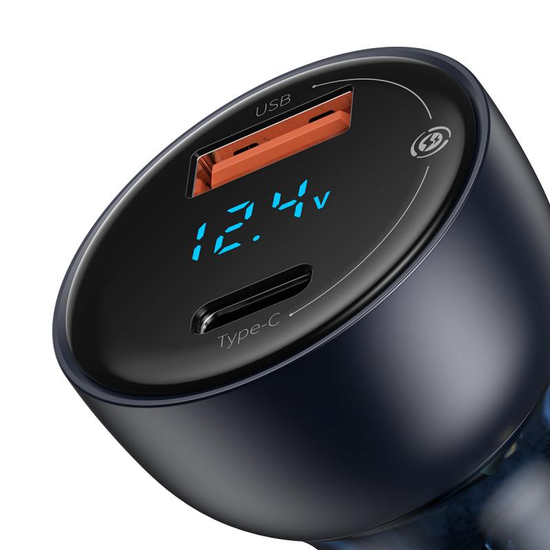 Автомобильное ЗУ Baseus Particular Digital Display PPS Dual Quick Charger 65W USB + Type-C - Купить в Украине за 579 грн - изображение №5