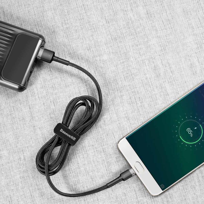 Кабель Baseus Cafule Micro USB 2.4A (0.5m) - Купить в Украине за 179 грн - изображение №3