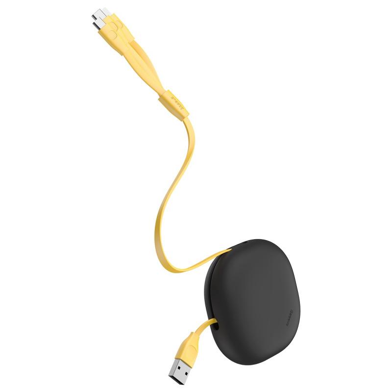 Кабель Baseus Lets Go Little Reunion One-Way Stretchable 3-in-1 (Micro USB+Lightning+Type-C) 3A (0.8 - Купить в Украине за 399 грн - изображение №7