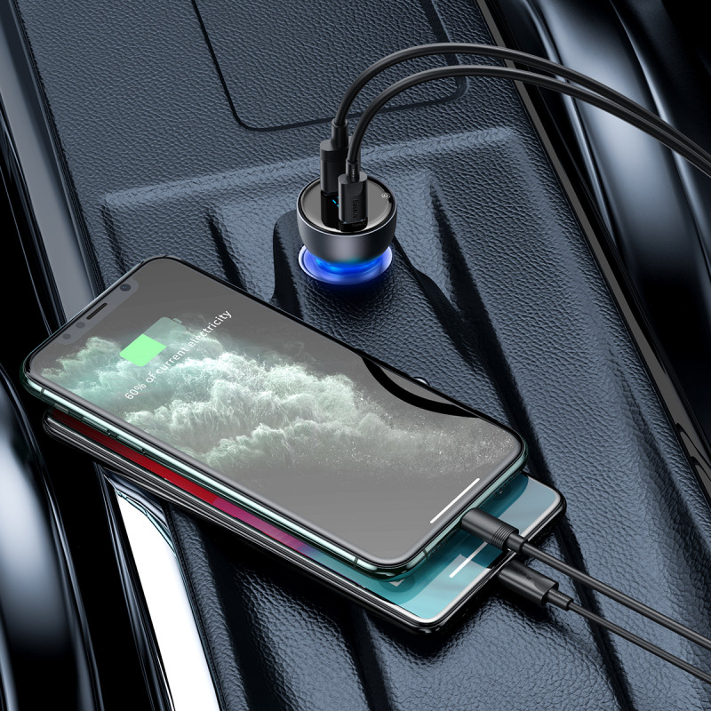 Автомобильное ЗУ Baseus Particular Digital Display PPS Dual Quick Charger 65W USB + Type-C - Купить в Украине за 579 грн - изображение №3