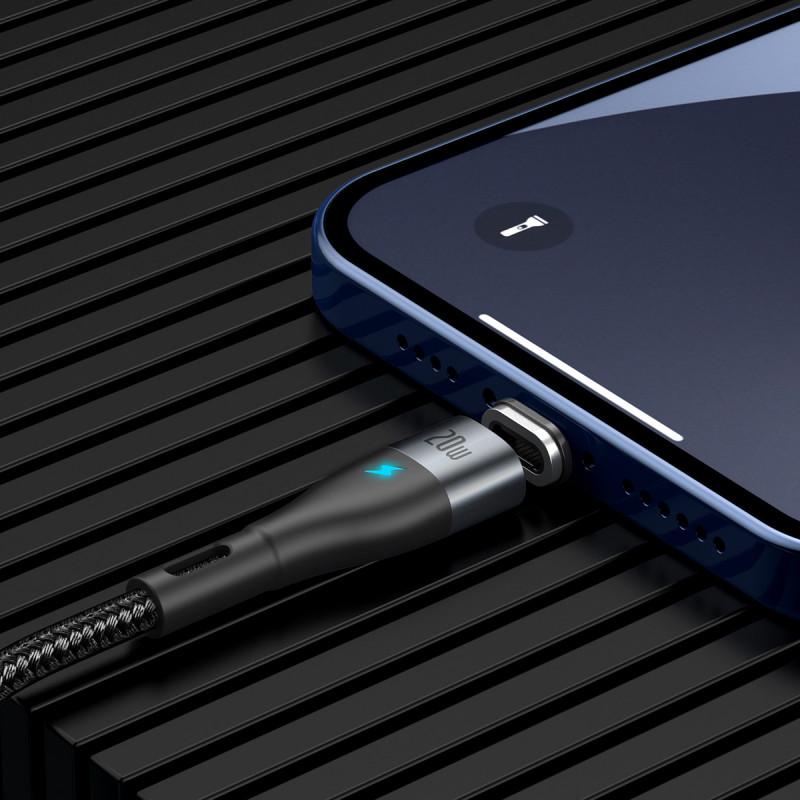 Кабель Baseus Zinc Magnetic Safe Fast Charging Type-C to Lightning PD 20W (1m) - Купить в Украине за 309 грн - изображение №4