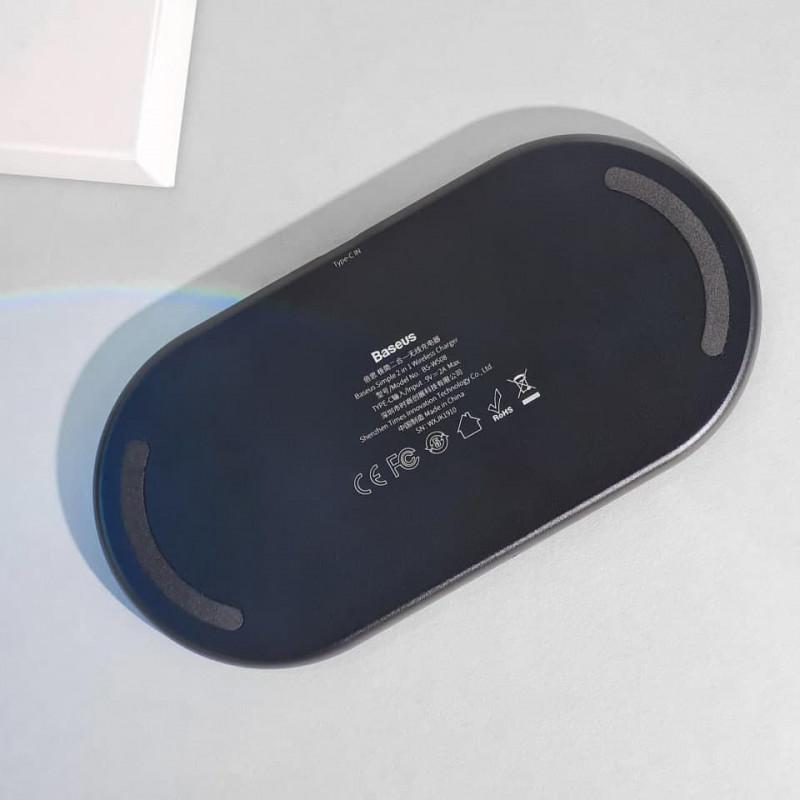 Беспроводное ЗУ Baseus Simple 2in1 18W - Купить в Украине за 0 грн - изображение №6