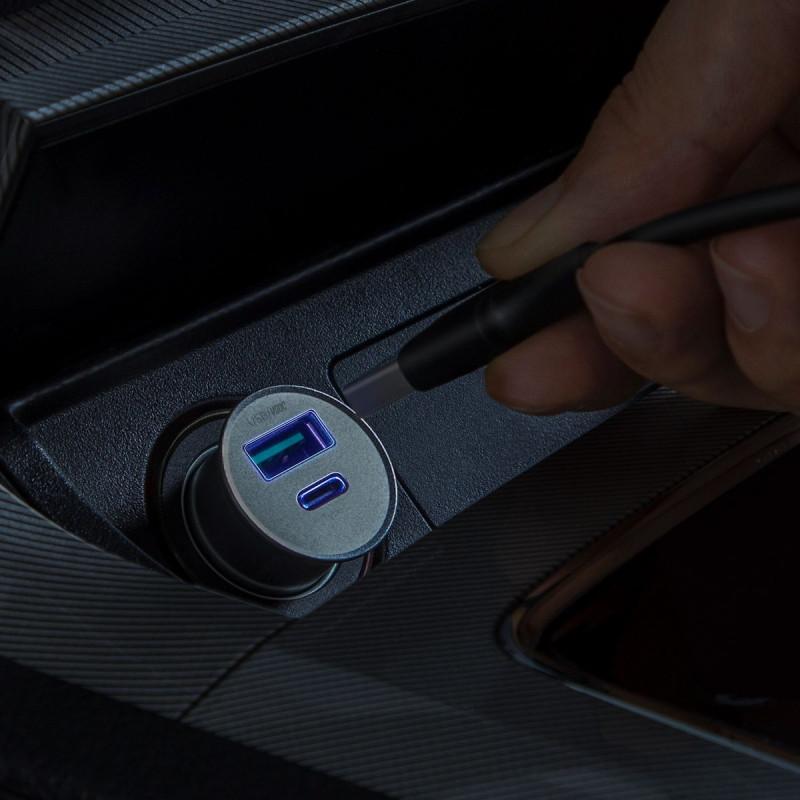 Автомобильное ЗУ Baseus Circular Metal PPS 30W (Support VOOC) USB - Купить в Украине за 459 грн - изображение №4